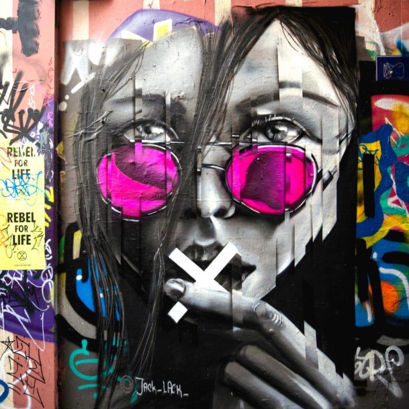 Graffiti von Jack Lack